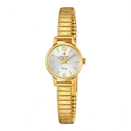 F20263/1 Festina Small Gold Plated Ladies Round Expanding Bracelet Watch